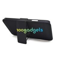 Антиударный поликарбонатный чехол с независимым защитным модулем для экрана на клипсе под ремень и ножкой-подставкой для Samsung Galaxy Note 3