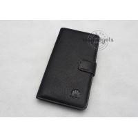 Кожаный чехол портмоне (нат. кожа) для Huawei Ascend Mate Черный