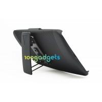 Антиударный поликарбонатный чехол с независимым защитным модулем для экрана на клипсе под ремень и ножкой-подставкой для Google Nexus 6