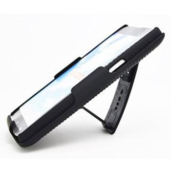 Антиударный поликарбонатный чехол с независимым защитным модулем для экрана на клипсе под ремень и ножкой-подставкой для LG L80
