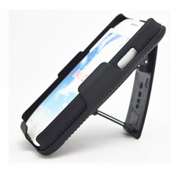 Антиударный поликарбонатный чехол с независимым защитным модулем для экрана на клипсе под ремень и ножкой-подставкой для LG L40