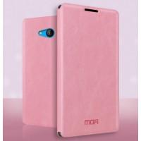 Чехол флип подставка водоотталкивающий для Microsoft Lumia 640 Розовый
