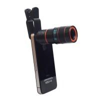 Универсальный 8-кратный объектив-микроскоп с клипсой и крепежом под штатив для OnePlus 3