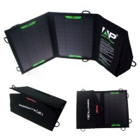 Переносное водоотталкивающее зарядное устройство на солнечной батарее дизайн Камуфляж 8 Вт (5 В, 1.6 А) для LG Prada 3.0 (P940)