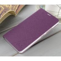 Текстурный чехол флип подставка на пластиковой основе для Lenovo A6000 Фиолетовый