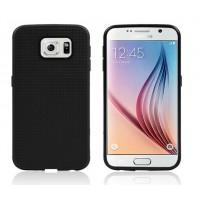Силиконовый матовый чехол с фирменной точечной структурой для Samsung Galaxy S6 Edge Черный