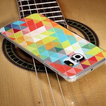 Пластиковый матовый дизайнерский чехол с рельефно-объемным УФ-принтом для Samsung Galaxy S6 Edge