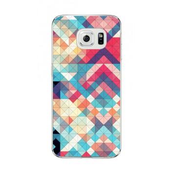 Пластиковый матовый дизайнерский чехол с объемно-рельефным УФ-принтом для Samsung Galaxy S6 Edge