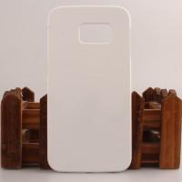 Пластиковый матовый непрозрачный чехол для Samsung Galaxy S6 Edge Белый