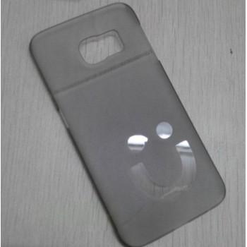 Пластиковый матовый полупрозрачный дизайнерский чехол Smile для Samsung Galaxy S6 Edge