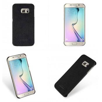 Кожаный чехол накладка (нат. кожа) для Samsung Galaxy S6 Edge