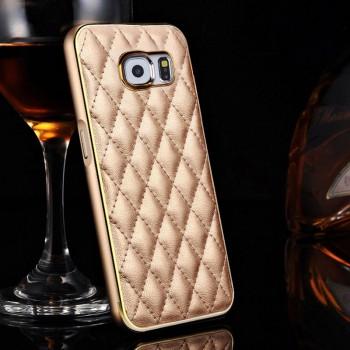 Двухкомпонентный чехол с кожаной накладкой с экстра-прошивкой для Samsung Galaxy S6