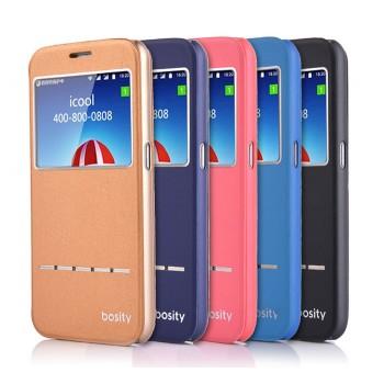 Дизайнерский чехол флип подставка с окном вызова и свайп-полосой для Samsung Galaxy S6