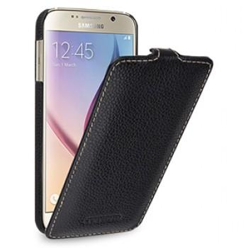 Кожаный чехол вертикальная книжка (нат. кожа) для Samsung Galaxy S6
