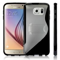 Силиконовый S чехол подставка для Samsung Galaxy S6 Черный