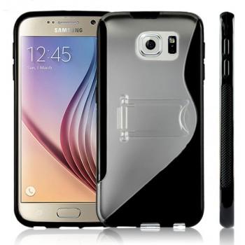 Силиконовый S чехол подставка для Samsung Galaxy S6