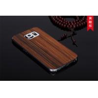 Ультратонкая 0.7 мм деревянная клеевая накладка из пород ореха и бамбука для Samsung Galaxy S6