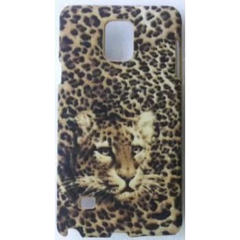 Пластиковый матовый дизайнерский чехол с принтом Леопард для Samsung Galaxy Note 4