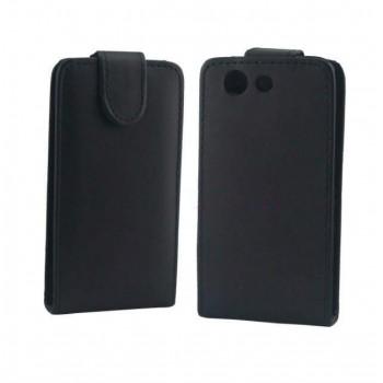 Чехол вертикальная книжка на пластиковой основе с магнитной застежкой для Sony Xperia Z3 Compact