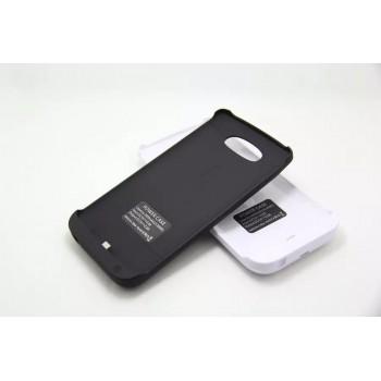 Пластиковый чехол накладка/экстра аккумулятор (3800 мАч) с индикатором заряда и встроенной ножкой-подставкой для LG G3