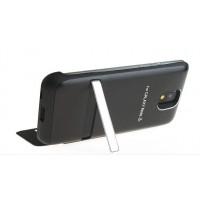 Пластиковый чехол флип подставка/экстра аккумулятор (4200 мАч) с индикаторами заряда и цельным окном вызова для Samsung Galaxy Note 3