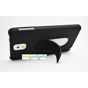Пластиковый матовый чехол со встроенной ножкой-подставкой для Samsung Galaxy Note 3