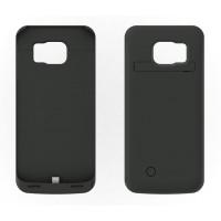 Пластиковый чехол накладка/экстра аккумулятор (4200 мАч) с индикаторами заряда и встроенной ножкой-подставкой для Samsung Galaxy S6 Edge