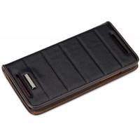 Чехол книжка подставка с тиснением для HTC Butterfly S Черный