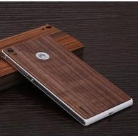 Ультратонкая 0.8 мм деревянная клеевая накладка из пород ореха и бамбука для Huawei Ascend P7 Коричневый