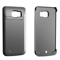 Пластиковый чехол накладка/экстра аккумулятор (4200 мАч) с индикаторами заряда и встроенной ножкой-подставкой для Samsung Galaxy S6
