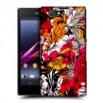 Пластиковый матовый дизайнерский чехол с эксклюзивной серией принтов Color Mess для Sony Xperia Z1 Compact (изготовление на заказ)