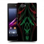 Пластиковый матовый дизайнерский чехол с эксклюзивной серией принтов Neon Chaos для Sony Xperia Z1 Compact (изготовление на заказ)