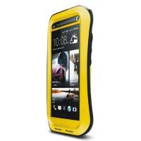 Сверхзащитный анатомический чехол для HTC One Max Желтый