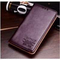 Чехол портмоне кожа с мраморным эффектом для HTC One Max Коричневый