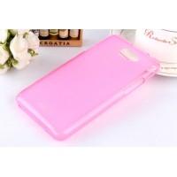 Силиконовый полупрозрачный чехол для HTC Desire 516 Розовый