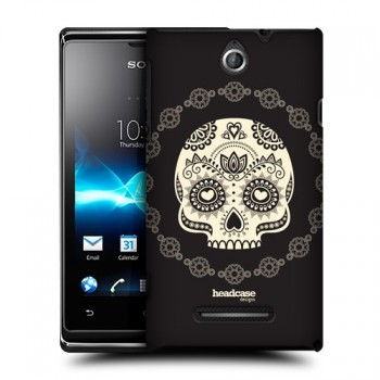 Пластиковый матовый дизайнерский чехол с эксклюзивной серией принтов для Sony Xperia E (изготовление на заказ)