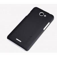 Пластиковый премиум матовый чехол для HTC Desire 516 Черный