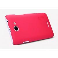 Пластиковый премиум матовый чехол для HTC Desire 516 Пурпурный