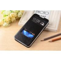 Чехол флип с окном вызова и свайпом для HTC Desire 516 Черный