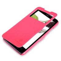 Чехол флип с окном вызова для HTC Desire 516 Пурпурный
