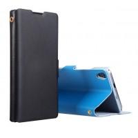 Чехол флип с магнитной застежкой для Huawei Ascend P7 Черный
