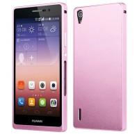 Ультратонкий грязестойкий металлический чехол для Huawei Ascend P7 Розовый