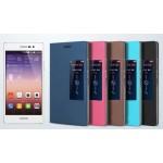 Чехол флип с окном вызова для Huawei Ascend P7