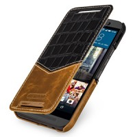 Эксклюзивный кожаный чехол горизонтальная книжка (2 вида нат. кожи) для HTC One M9