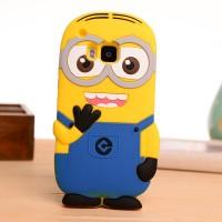 Силиконовый дизайнерский фигурный чехол для HTC One M9 Голубой