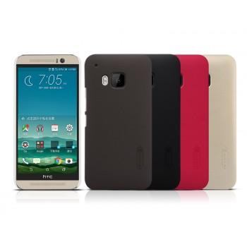 Пластиковый матовый нескользящий премиум чехол для HTC One M9