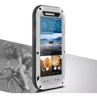 Эксклюзивный многомодульный противоударный премиум винтовой чехол с силиконовой основой, закаленным стеклом, карбоновым поверхностным слоем для HTC One M9 Серый