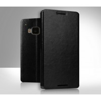 Чехол флип подставка водоотталкивающий для HTC One M9 Черный