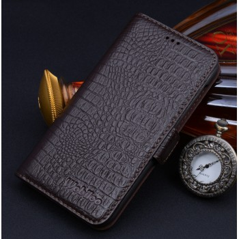 Кожаный чехол портмоне (нат. кожа крокодила) для HTC One M9