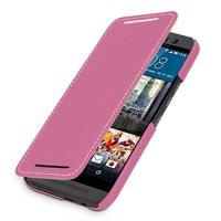 Кожаный чехол горизонтальная книжка (нат. кожа) для HTC One M9 Пурпурный
